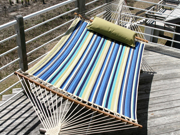 Quilted Fabric Hammock-Color Stripe