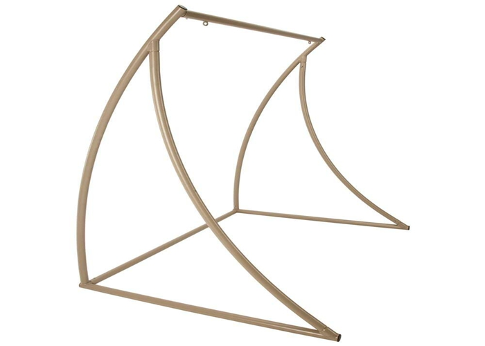 Fade Resistant Double Camping Hammock Chair Stand Porch Taupe , Hammock Swing Chair Stand